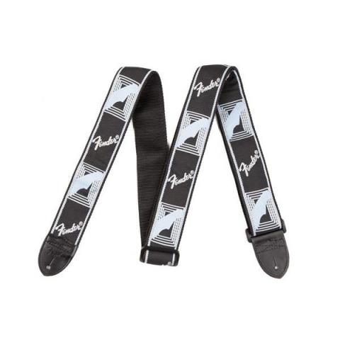 FenderMonogrammed Strap Black/Light Grey/Blue