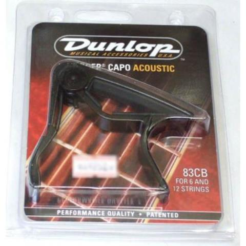 Dunlop-カポタストAcoustic Curved Trigger Capos 83C Black