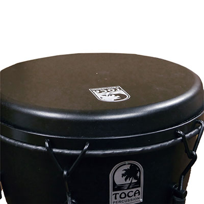 "SFDMX-12BM Freestyle Mechanically Tuned Djembe 12"", Black Mamba追加画像"
