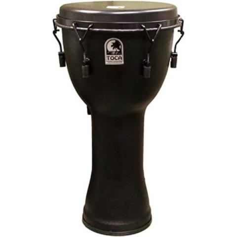 "TOCASFDMX-12BM Freestyle Mechanically Tuned Djembe 12"", Black Mamba"