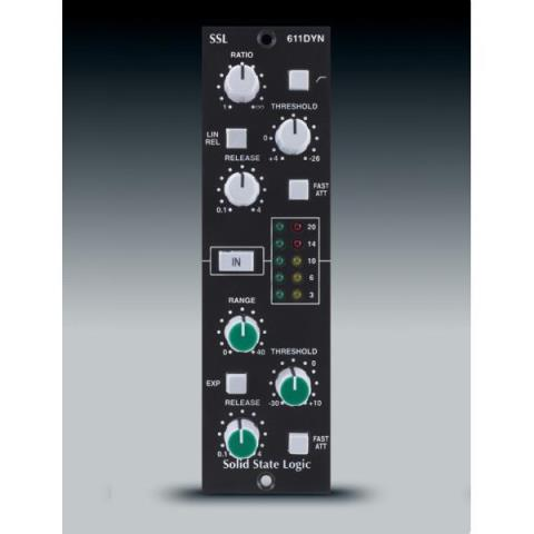 Solid State Logic (SSL)-500シリーズ対応モジュールE-Series Dynamics Module for 500 Series racks 611DYN