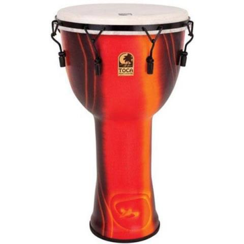 "TOCASFDMX-10F Freestyle Mechanically Tuned Djembe 10"",Fiesta Red"