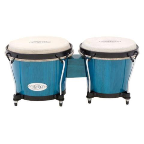 "TOCA-ボンゴ2100BB Synergy 6+6-3/4"" Bongos - Blue"