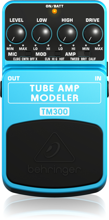 TM300 TUBE AMP MODELERパネル画像