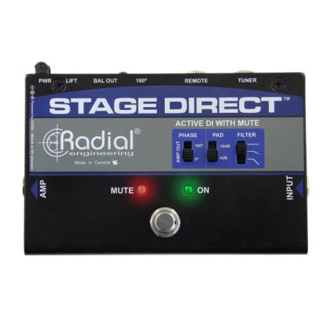 Radial Engineering-ミュート機能付きアクティブDIボックスStage Direct