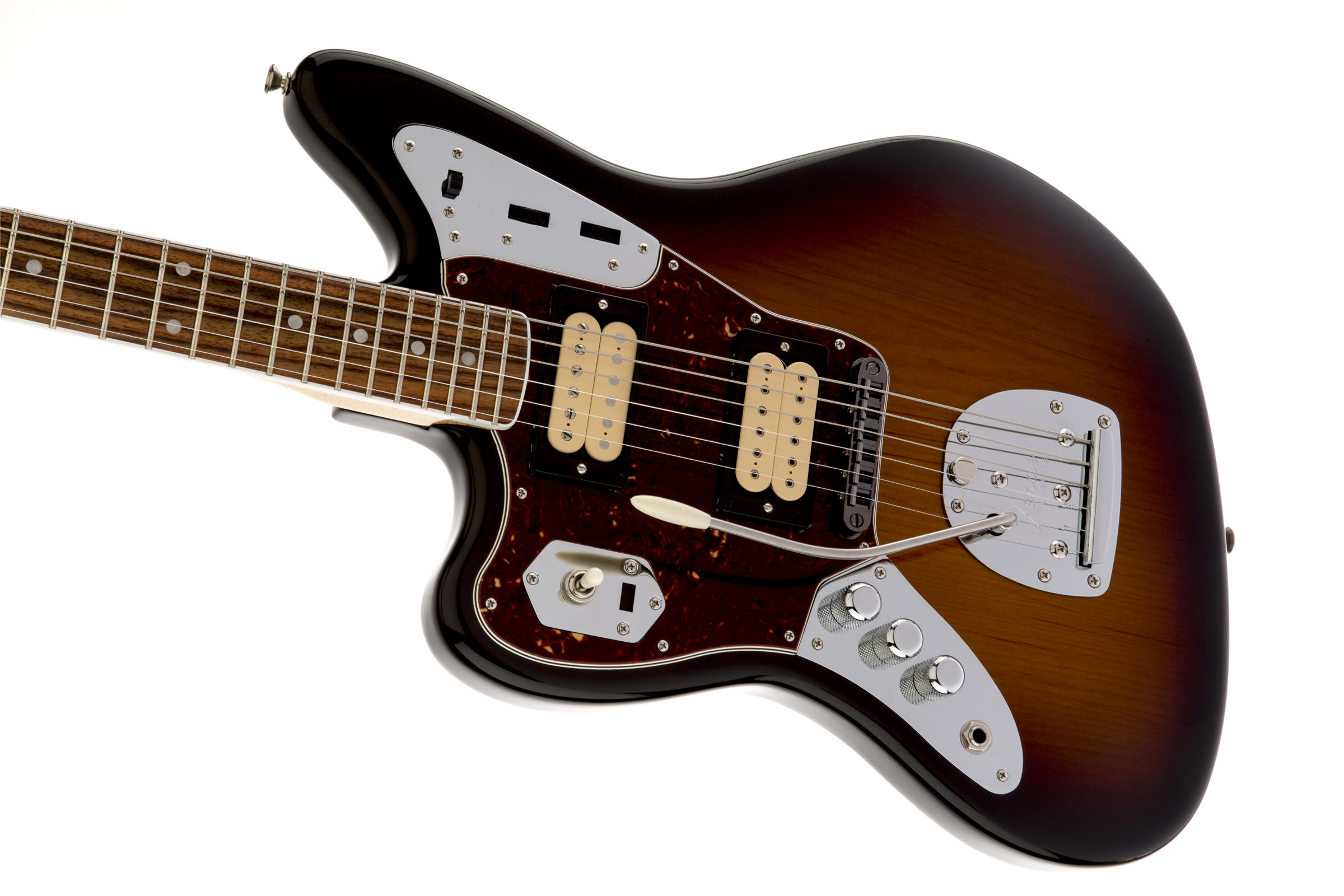 Kurt Cobain Jaguar Left-Handed, Rosewood Fingerboard, 3-Color Sunburst追加画像