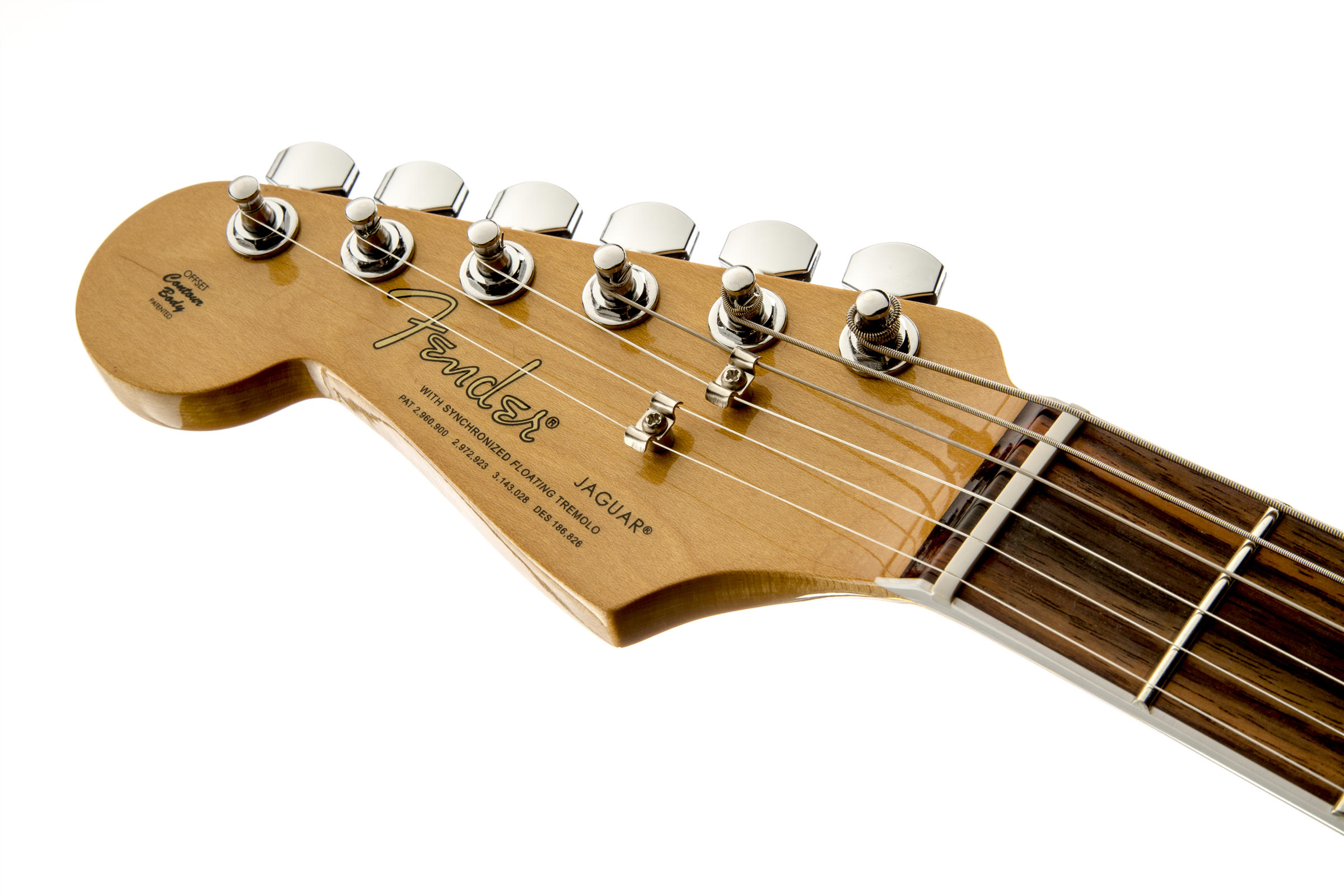 Kurt Cobain Jaguar Left-Handed, Rosewood Fingerboard, 3-Color Sunburstヘッド画像