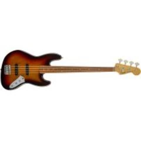 Fender-ジャズベースJaco Pastorius Jazz Bass, Fretless, Pau Ferro Fingerboard, 3-Color Sunburst