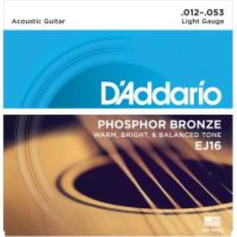 D'AddarioEJ16 Phosphor Bronze Light 12-53