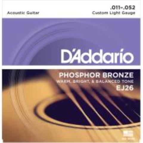 D'AddarioEJ26 Phosphor Bronze Custom Light 11-52