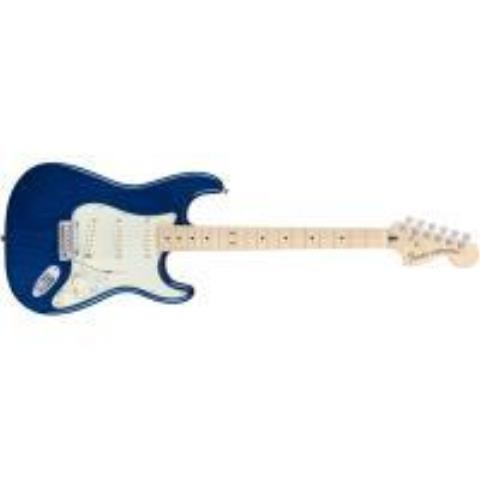 FenderDeluxe Stratocaster®, Maple Fingerboard, Sapphire Blue Transparent