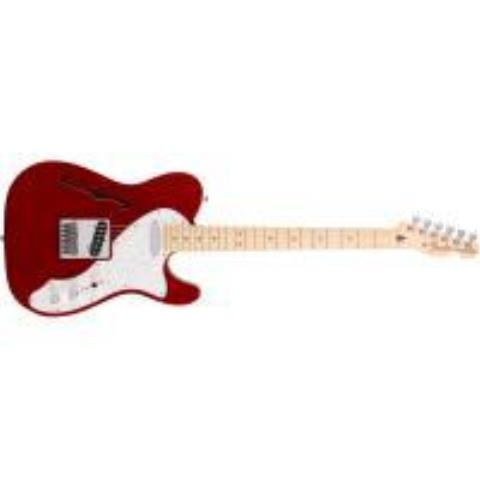 Fender-セミホローボディーテレキャスターDeluxe Tele® Thinline Candy Apple Red
