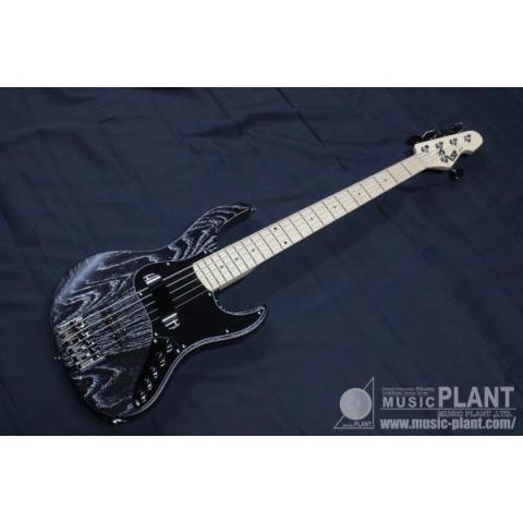 ESP-エレキベースAMAZE-AS-SL5 Black W/White Filler