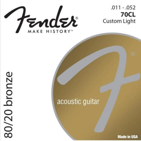 Fender80/20 Bronze 70CL Custom Light 11-52