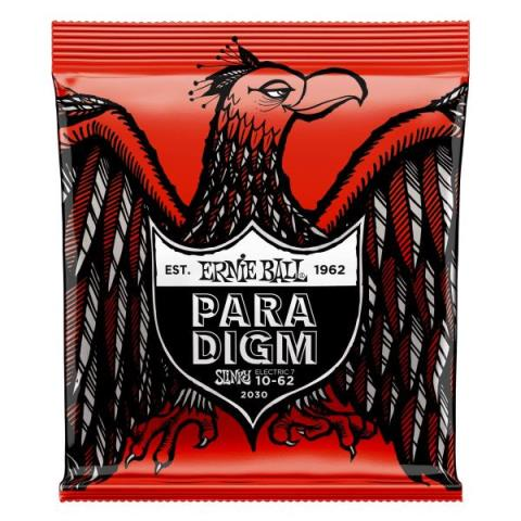 ERNIE BALL-エレキギター弦Paradigm Skinny Top Heavy Bottom Slinky 7-Strings #2030 10-62