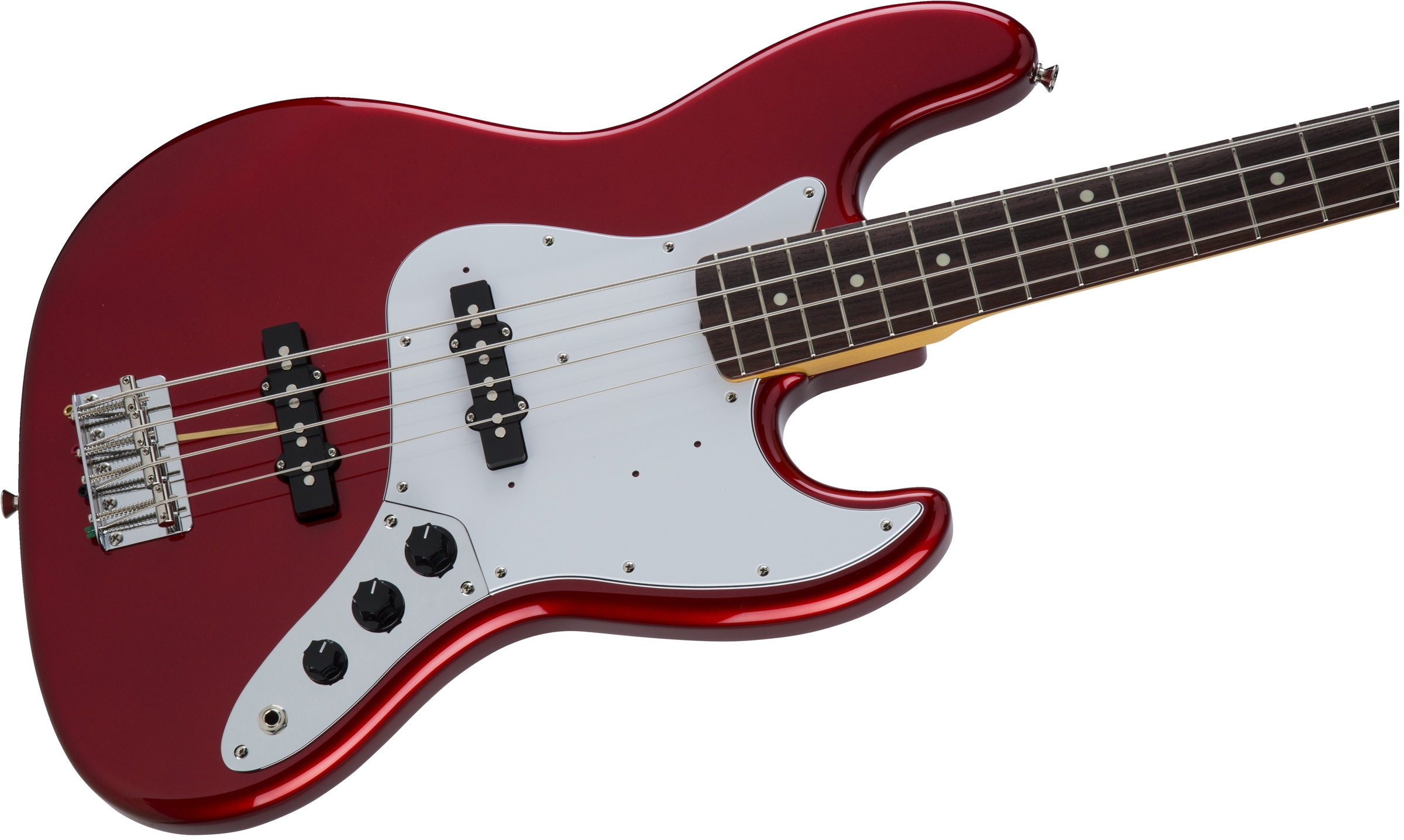 Made in Japan Traditional 60s Jazz Bass Candy Apple Red追加画像