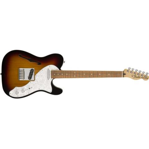 Fender-セミホローボディーテレキャスターDeluxe Tele® Thinline 3-Color Sunburst (Pau Ferro Fingerboard)