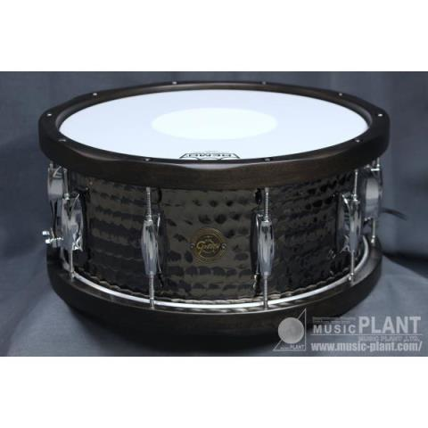 GRETSCH-スチールスネアドラムS1-6514W-BSH Wood Hoop Hammered Black Steel Snare