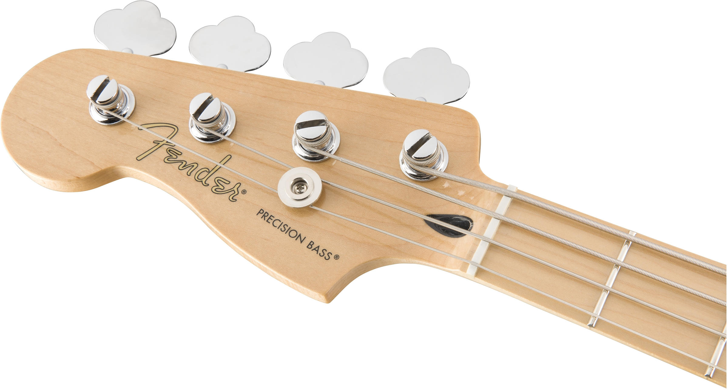 Player Precision Bass Left-Handed Black (Maple Fingerboard)ヘッド画像