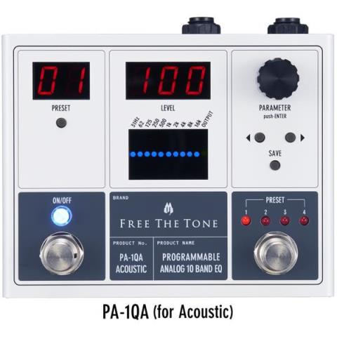 Free The Tone-アコースティックギター用イコライザーPA-1QA PROGRAMMABLE ANALOG 10 BAND EQ