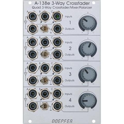 Doepfer-クロスフェーダー/ミキサーA-138e Quad Three-Way Crossfader / Mixer / Polarizer