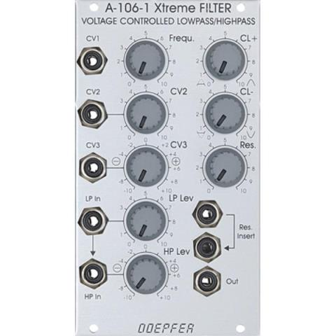Doepfer-ローパス/ハイパス・フィルターA-106-1 Xtreme FILTER VOLTAGE CONTROLLED LOWPASS/HIGHPASS