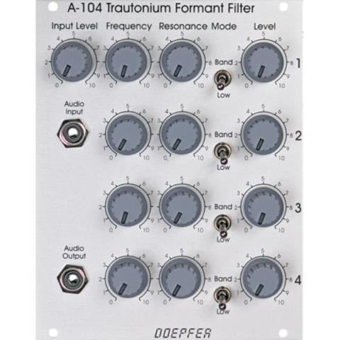 Doepfer-アナログフィルターA-104 Trautonium Formant Filter