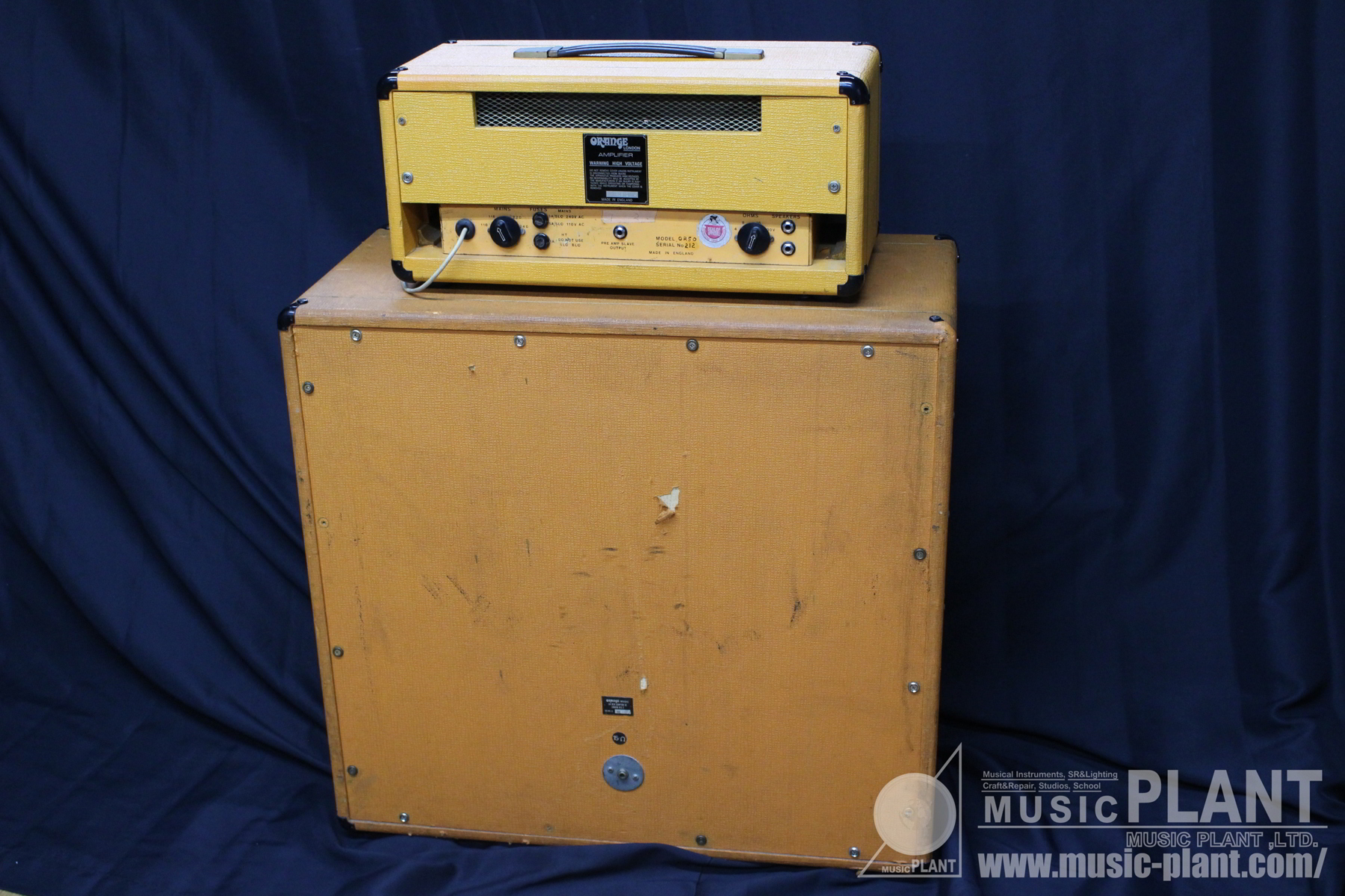 "Vintage OR50 Head + 4 x 12"" Cabinet背面画像"