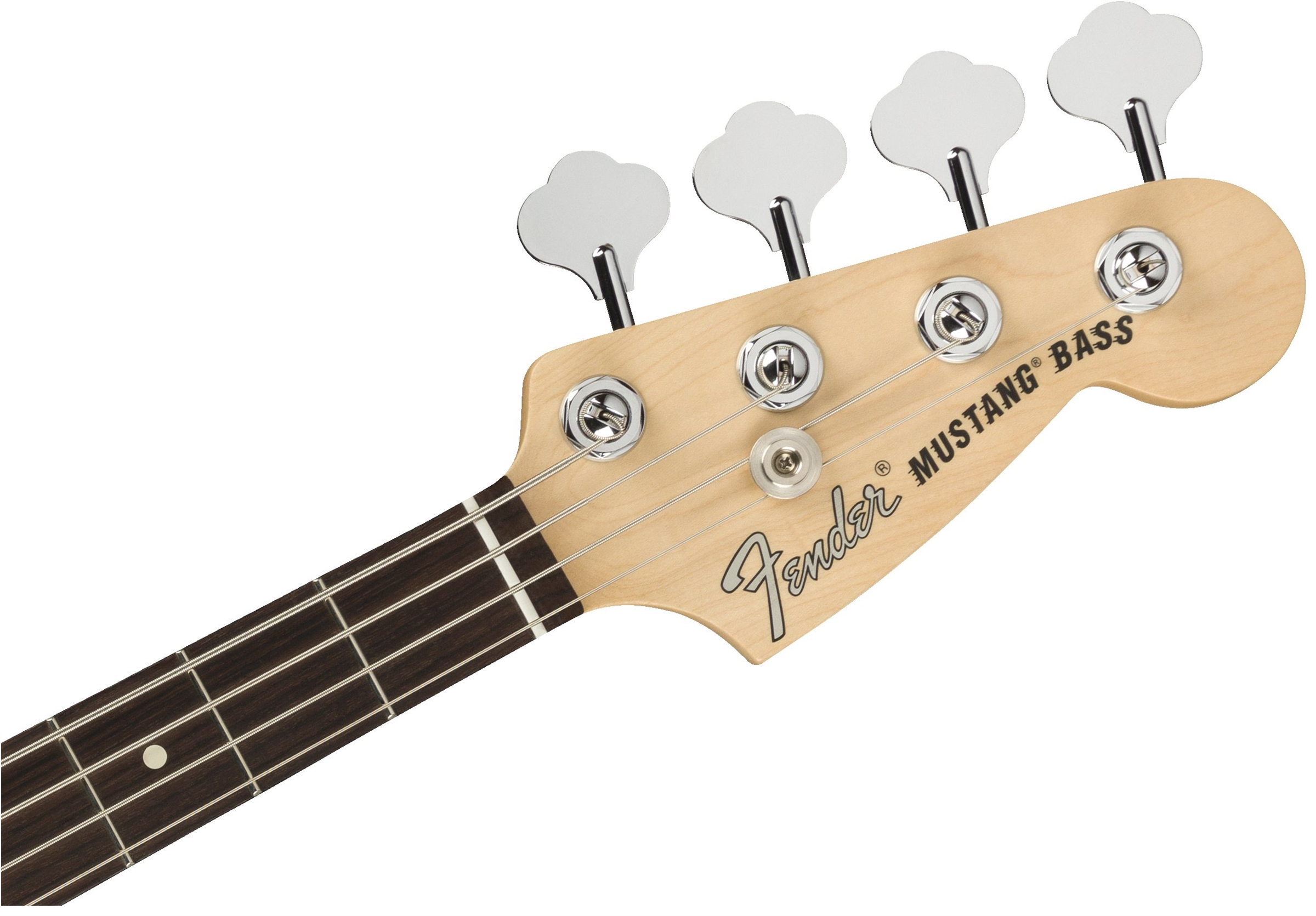 American Performer Mustang Bass Arctic Whiteヘッド画像