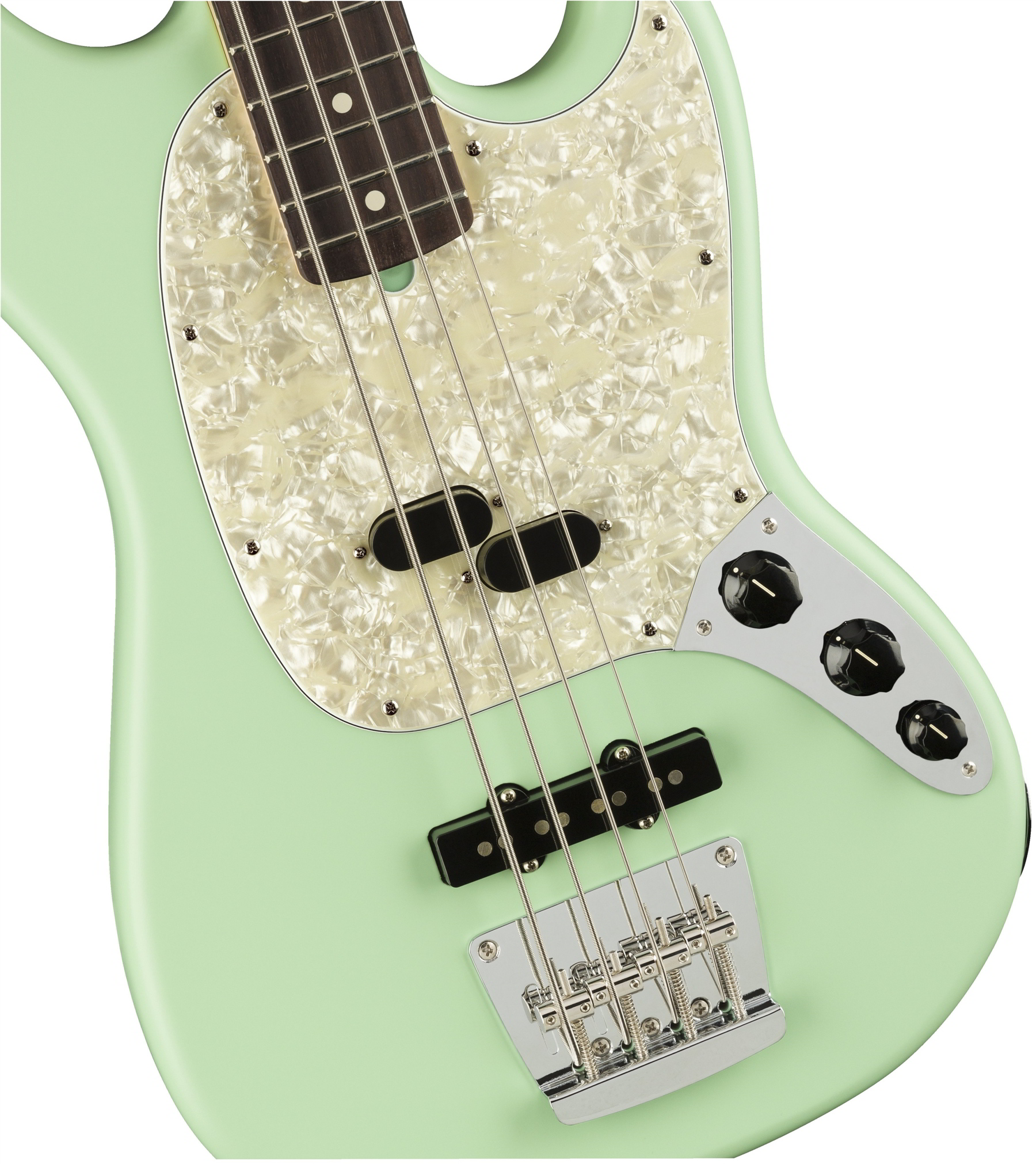 American Performer Mustang Bass Satin Surf Green追加画像