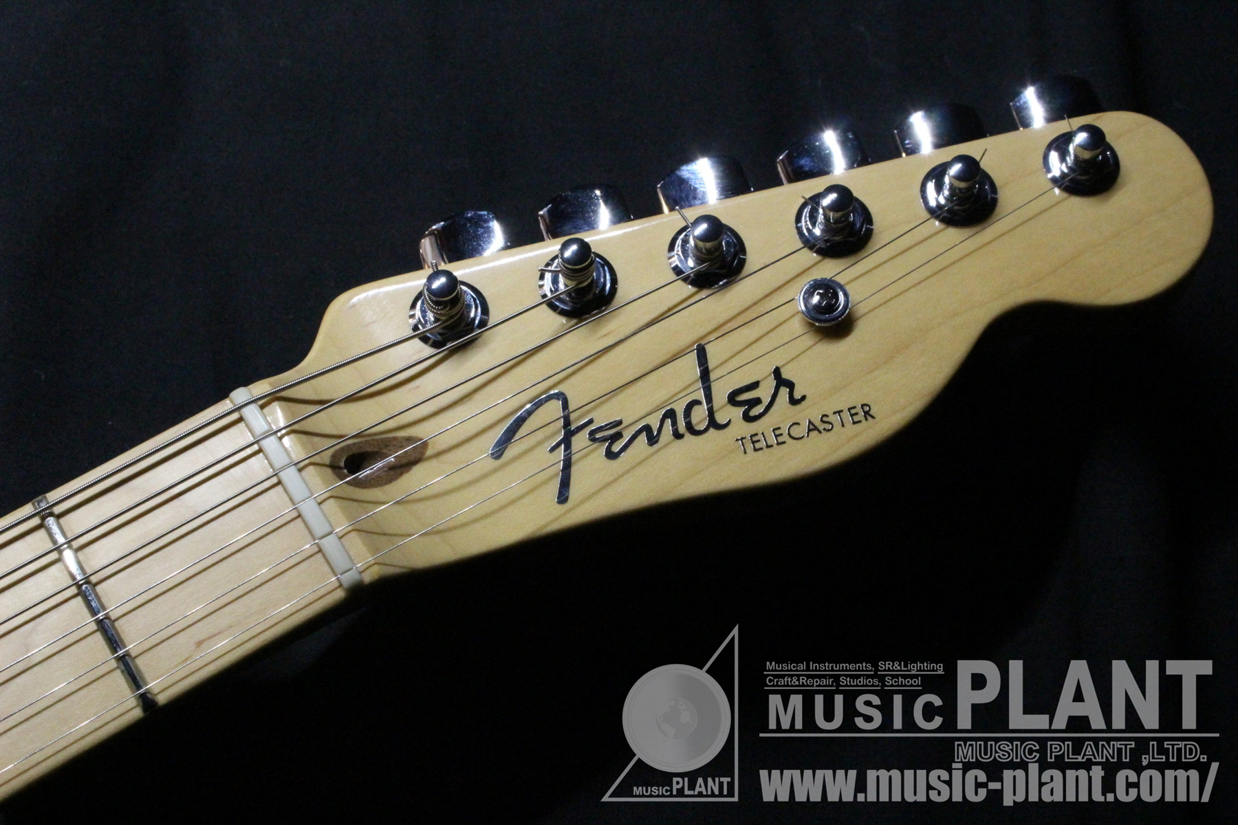 Aamerican Deluxe Power Telecaster NAT/Mヘッド画像