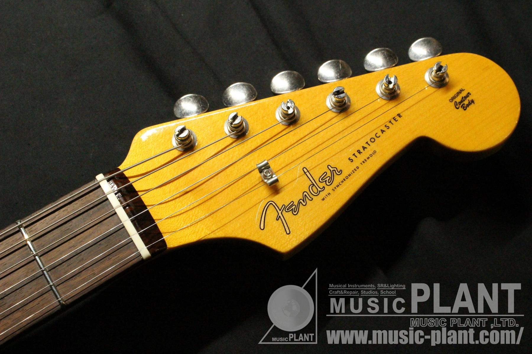 Custom Shop Vintage Custom 1959 Stratocaster Lake Placid Blueヘッド画像