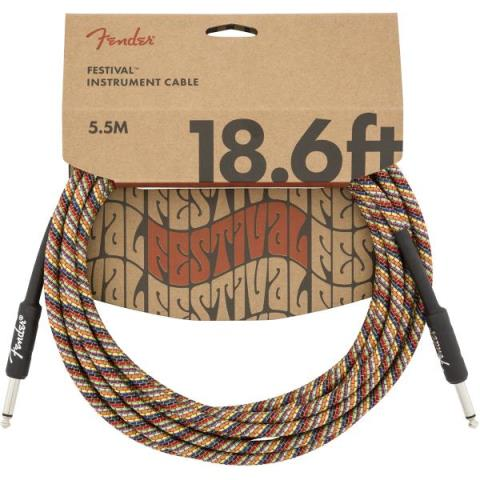 Fender-シールドケーブルFestival Instrument Cable, Rainbow 18.6FT