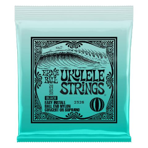 ERNIE BALL2326 UKULELE STRINGS BLACK