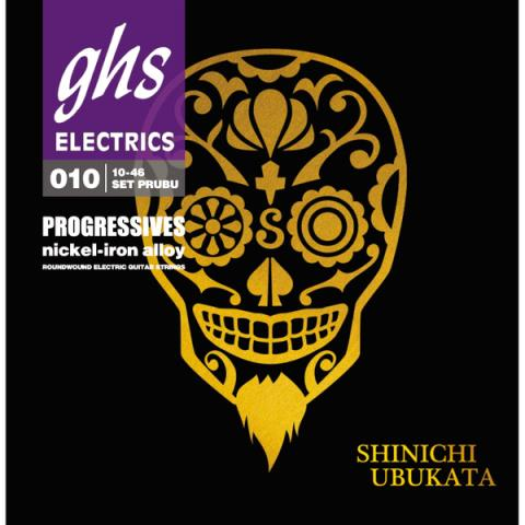 GHS-エレキギター弦Progressives 10-46 PRUBU Shinichi Ubukata Signature Strings