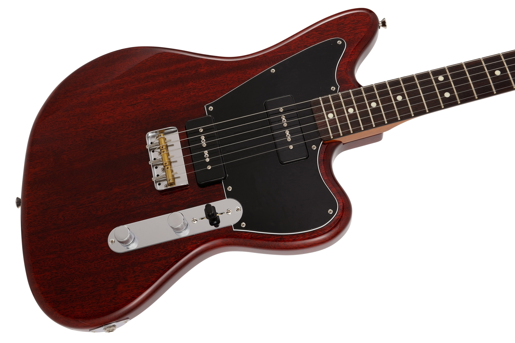 Limited Mahogany Offset Telecaster P90 Crimson Red Trans追加画像