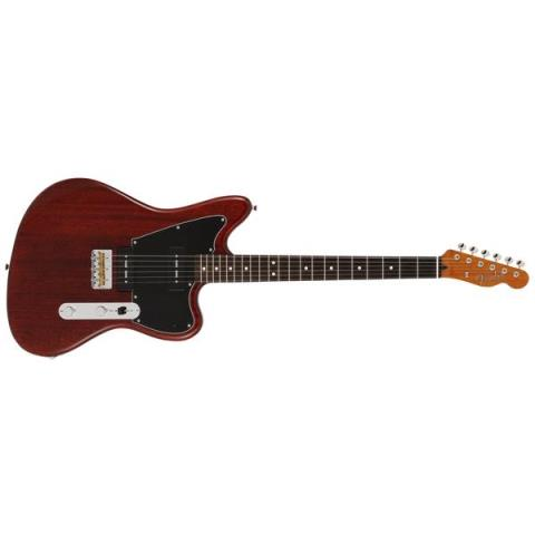 Fender-エレキギターLimited Mahogany Offset Telecaster P90 Crimson Red Trans