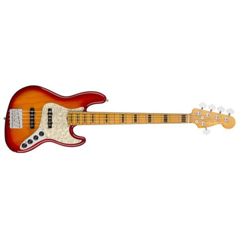 Fender-5弦ジャズベースAmerican Ultra Jazz Bass V Plasma Red Burst