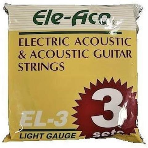 Ele-AcoEL-3 LIGHT GAUGE 3sets ブロンズ