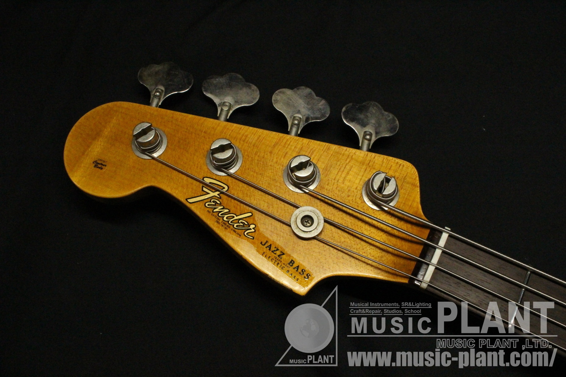2019 NAMM Limited Edition 1962 Jazz Bass Journeyman Relic LH Aged Lake Placid Blueヘッド画像