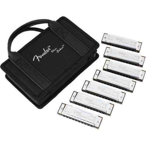 FenderBlues Deluxe 7 Pack Harmonica with Case  数量限定
