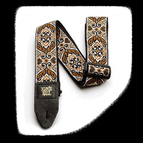 ERNIE BALL-ストラップJacquard Strap Tribal Brown