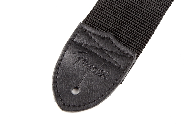 "Fender® 2"" Black Poly Strap w/ Grey Fender® Logo追加画像"