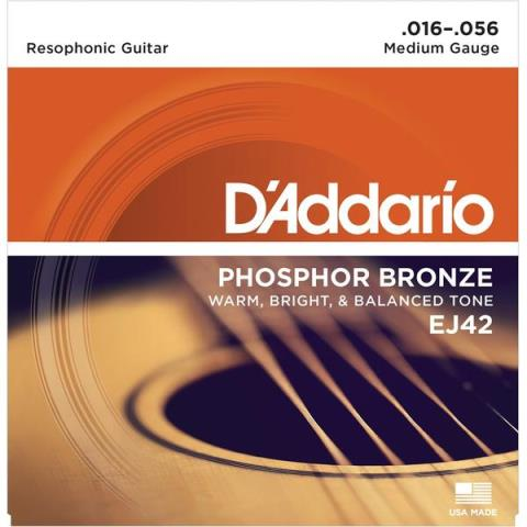 D'AddarioEJ42 Resophonic, Medium 16-56