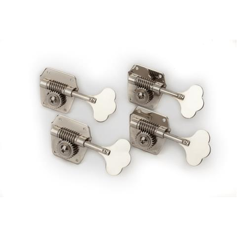 FenderPure Vintage Bass Tuning Machines, Nickel-Plated Steel, (4)