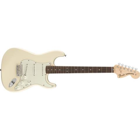 Fender-ストラトキャスターAlbert Hammond Jr. Signature Stratocaster Rosewood Fingerboard Olympic White