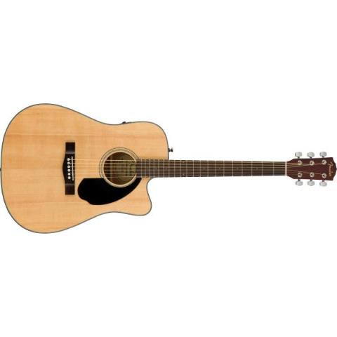 Fender-アコースティックギターCD-60SCE Dreadnought Walnut Fingerboard Natural