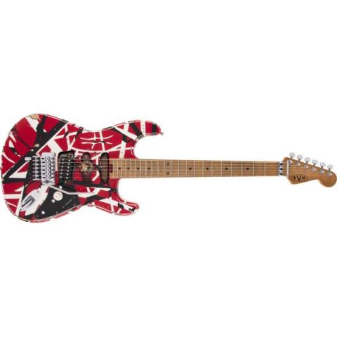 EVH-エレキギターStriped Series Frankie, Maple Fingerboard, Red with Black Stripes Relic