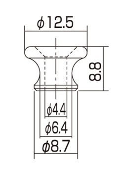 AP-6695-001 Gibson® Style Nickel Strap Buttons追加画像