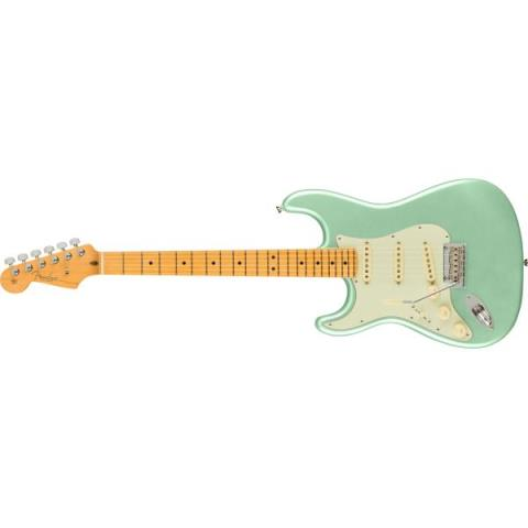 Fender-ストラトキャスターAmerican Professional II Stratocaster Left-Hand, Maple Fingerboard, Mystic Surf Green
